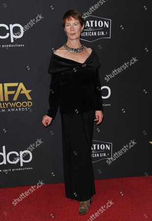 Celia Imrie arrives at the 23rd annual Hollywood Film Awards, at the Beverly Hilton Hotel in Beverly Hills, Calif