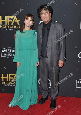 Bong Joon-ho, Park So-dam. Park So-dam, left, and Bong Joon-ho arrive at the 23rd annual Hollywood Film Awards, at the Beverly Hilton Hotel in Beverly Hills, Calif