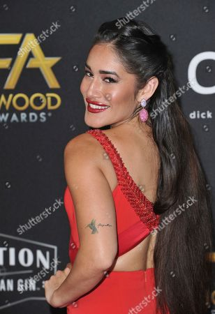 Q'orianka Kilcher arrives at the 23rd annual Hollywood Film Awards, at the Beverly Hilton Hotel in Beverly Hills, Calif