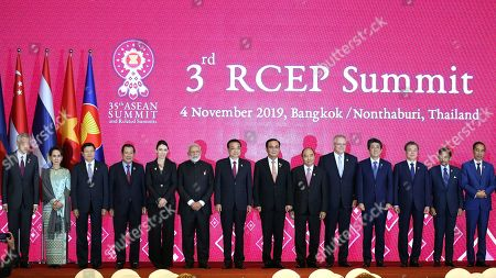 Editorial picture of The 35th ASEAN Summit and Related Summits, in Bangkok, Nonthaburi, Thailand - 04 Nov 2019