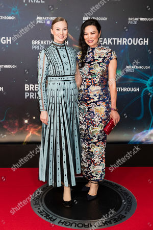 Stock Picture of Julia Milner and Wendi Deng Murdoch
