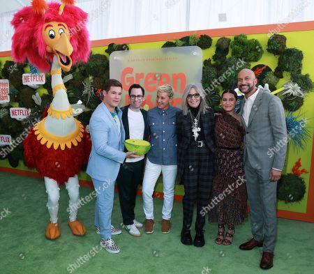 "Adam DeVine, Jared Stern, Ellen DeGeneres, Diane Keaton, Ilana Glazer Keegan-Michael Key attend the premiere of Netflix's ""Green Eggs and Ham"" at the Hollywood American Legion Post 43 on in Los Angeles"