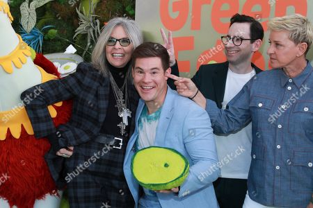 """Diane Keaton, Adam Devine, Jared Stern, Ellen DeGeneres. Diane Keaton, from left, Adam Devine, Jared Stern, and Ellen DeGeneres attend the premiere of Netflix's """"Green Eggs and Ham"""" at the Hollywood American Legion Post 43 on in Los Angeles"""