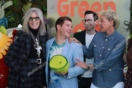 """Stock Picture of Diane Keaton, Adam Devine, Jared Stern, Ellen DeGeneres. Diane Keaton, from left, Adam Devine, Jared Stern, and Ellen DeGeneres attend the premiere of Netflix's """"Green Eggs and Ham"""" at the Hollywood American Legion Post 43 on in Los Angeles"""