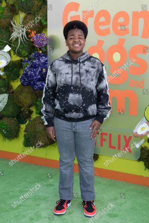 "Keith L. Williams attends the premiere of Netflix's ""Green Eggs and Ham"" at the Hollywood American Legion Post 43 on in Los Angeles"