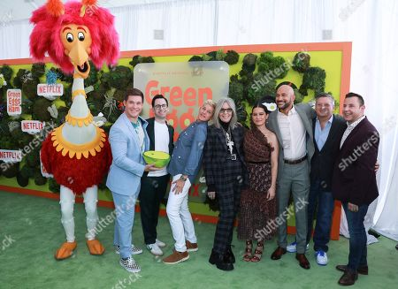 "Adam DeVine, Jared Stern, Ellen DeGeneres, Diane Keaton, Ilana Glazer Keegan-Michael Key, Ted Sarandos, attends the premiere of Netflix's ""Green Eggs and Ham"" at the Hollywood American Legion Post 43 on in Los Angeles"