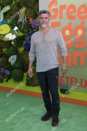 """Esai Morales attends the premiere of Netflix's """"Green Eggs and Ham"""" at the Hollywood American Legion Post 43 on in Los Angeles"""