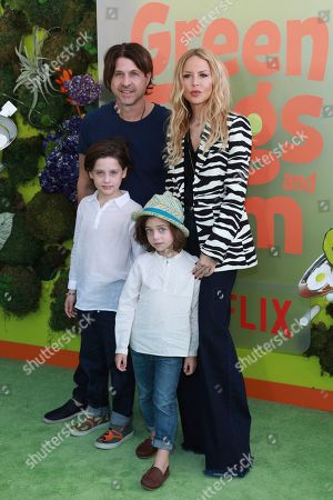 "Kaius Jagger Berman, Rodger Berman, Skyler Morrison Berman, Rachel Zoe. Kaius Jagger Berman, from left, Rodger Berman, Skyler Morrison Berman, and Rachel Zoe attend the premiere of Netflix's ""Green Eggs and Ham"" at the Hollywood American Legion Post 43 on in Los Angeles"