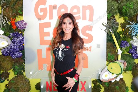 Patricia Manterola poses on the green carpet before the Season 1 premiere of Green Eggs and Ham at Hollywood Post 43 in Los Angeles, California, USA, 03 November 2019. Green Eggs and Ham launches globally 08 November 2019 on Netflix.