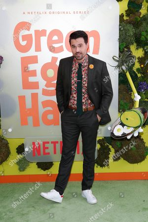 Brett Dalton poses on the green carpet before the Season 1 premiere of Green Eggs and Ham at Hollywood Post 43 in Los Angeles, California, USA, 03 November 2019. Green Eggs and Ham launches globally 08 November 2019 on Netflix.