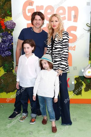 Rodger Berman (L, top) and Rachel Zoe (R, top) pose with their children on the green carpet before the Season 1 premiere of Green Eggs and Ham at Hollywood Post 43 in Los Angeles, California, USA, 03 November 2019. Green Eggs and Ham launches globally 08 November 2019 on Netflix.