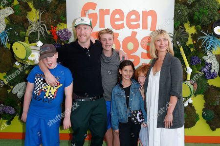 Matt Walsh (2-L) and family pose with their children on the green carpet before the Season 1 premiere of Green Eggs and Ham at Hollywood Post 43 in Los Angeles, California, USA, 03 November 2019. Green Eggs and Ham launches globally 08 November 2019 on Netflix.
