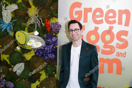 Stock Image of Jared Stern poses on the green carpet before the Season 1 premiere of Green Eggs and Ham at Hollywood Post 43 in Los Angeles, California, USA, 03 November 2019. Green Eggs and Ham launches globally 08 November 2019 on Netflix.