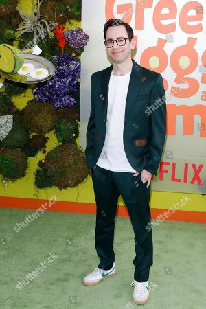 Stock Photo of Jared Stern poses on the green carpet before the Season 1 premiere of Green Eggs and Ham at Hollywood Post 43 in Los Angeles, California, USA, 03 November 2019. Green Eggs and Ham launches globally 08 November 2019 on Netflix.