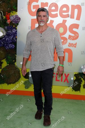 Esai Morales poses on the green carpet before the Season 1 premiere of Green Eggs and Ham at Hollywood Post 43 in Los Angeles, California, USA, 03 November 2019. Green Eggs and Ham launches globally 08 November 2019 on Netflix.