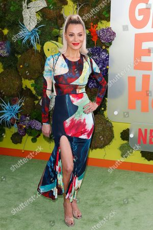 Dorit Kemsley poses on the green carpet before the Season 1 premiere of Green Eggs and Ham at Hollywood Post 43 in Los Angeles, California, USA, 03 November 2019. Green Eggs and Ham launches globally 08 November 2019 on Netflix.