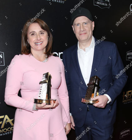Victoria Alonso and Kevin Feige
