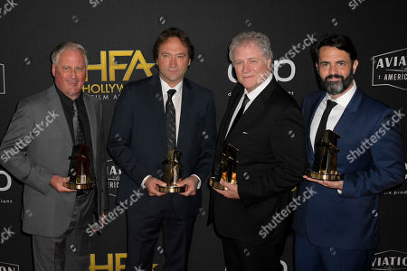 Paul Massey, David Giammarco, Donald Sylvester and Steve Morrow pose for photographers at the 23rd Annual Hollywood Film Awards at the Beverly Hilton in Los Angeles, California, USA, 3 November 2019.