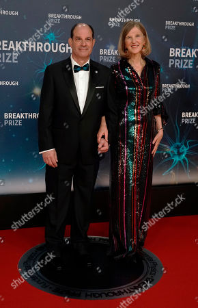 Dr. David Julius (L) and his wife Dr. Holly Ingraham (R) pose on the red carpet before the eighth annual Breakthrough Prize Awards, held at the NASA Ames Research Center in Mountain View, California, USA, 03 November 2019. The Breakthrough Prize is awarded annually, and recognizes the world's top scientists. Considered the world's most generous science prize, each Breakthrough Prize is three million US dollar and presented in the fields of Life Sciences (up to four per year), Fundamental Physics (one per year) and Mathematics (one per year).