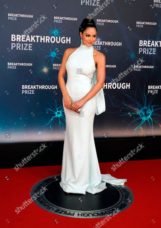 US actress and singer Katharine McPhee poses on the red carpet before the eighth annual Breakthrough Prize Awards, held at the NASA Ames Research Center in Mountain View, California, USA, 03 November 2019. The Breakthrough Prize is awarded annually, and recognizes the world's top scientists. Considered the world's most generous science prize, each Breakthrough Prize is three million US dollar and presented in the fields of Life Sciences (up to four per year), Fundamental Physics (one per year) and Mathematics (one per year).