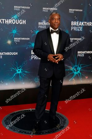 US actor LeVar Burton poses on the red carpet before the eighth annual Breakthrough Prize Awards, held at the NASA Ames Research Center in Mountain View, California, USA, 03 November 2019. The Breakthrough Prize is awarded annually, and recognizes the world's top scientists. Considered the world's most generous science prize, each Breakthrough Prize is three million US dollar and presented in the fields of Life Sciences (up to four per year), Fundamental Physics (one per year) and Mathematics (one per year).