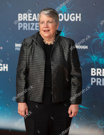 Janet Napolitano seen at 8th Annual Breakthrough Prize Ceremony at NASA Ames Research Center, in Mountain View, Calif