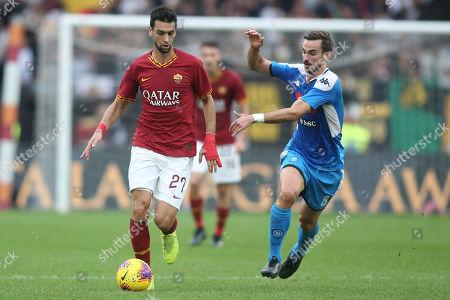 Javier Pastore (AS ROMA), Fabian Ruiz (Napoli) in action
