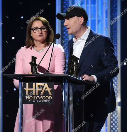 Stock Image of Kevin Feige and Victoria Alonso