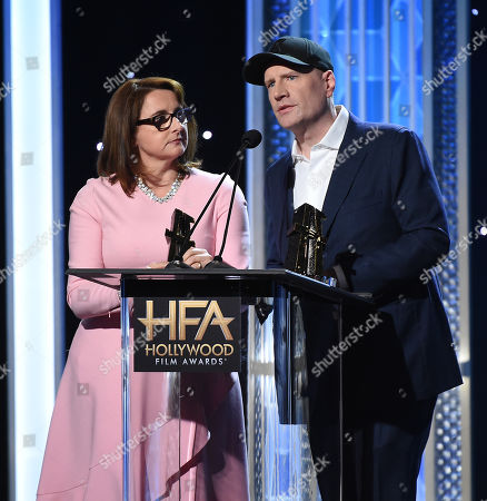 Kevin Feige and Victoria Alonso