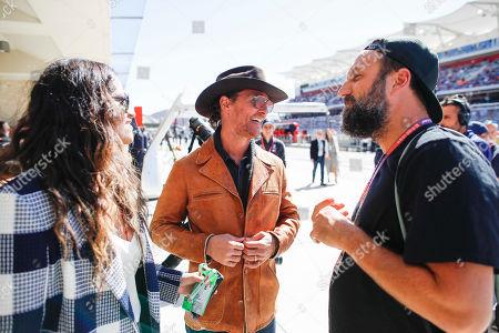 Motorsports: FIA Formula One World Championship 2019, Grand Prix of United States,  Camila Alves, Matthew McConaughey, Paul Ripke