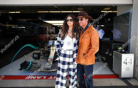 Motorsports: FIA Formula One World Championship 2019, Grand Prix of United States,  Camila Alves, Matthew McConaughey