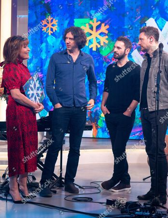 Lorraine Kelly with Snow Patrol - Gary Lightbody, Johnny McDaid and Nathan Connolly