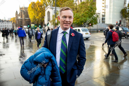 Stock Picture of Labour MP Chris Bryant arrives at the Houses of Parliament. Bryant is standing as a candidate for new Speaker of the House of Commons, which will be decided by a vote starting later this afternoon.