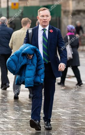 Labour MP Chris Bryant arrives at the Houses of Parliament. Bryant is standing as a candidate for new Speaker of the House of Commons, which will be decided by a vote starting later this afternoon.