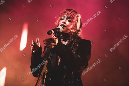 Editorial image of Kelsey Lu in concert at the Club To Club Festival, Turin, Italy - 03 Nov 2019