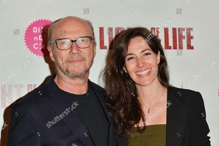 Paul Haggis and Daniela Virgilio