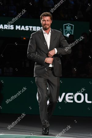 Marat Safin during the trophy ceremony