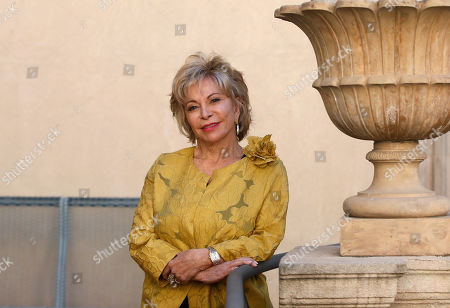 Chilean writer Isabel Allende poses for media before receiving the Barcino International Historical Novel Award in Barcelona, Catalonia, Spain, 04 November 2019. The award ceremony is held on the sidelines of the Barcelona Historical Novel literary event that runs from 04 to 09 November 2019.