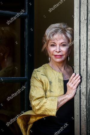 Stock Picture of Chilean writer Isabel Allende poses for media before receiving the Barcino International Historical Novel Award in Barcelona, Catalonia, Spain, 04 November 2019. The award ceremony is held on the sidelines of the Barcelona Historical Novel literary event that runs from 04 to 09 November 2019.