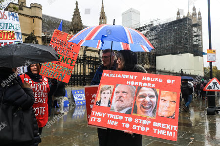 Editorial picture of Pro and Anti-Brexit protests, London, UK - 04 Nov 2019