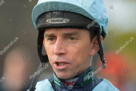 Jockey Leighton Aspell during Horse Racing at Plumpton Racecourse on 4th November 2019