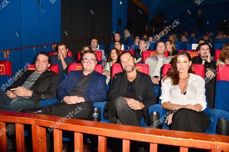 Producer Sebastian Aloi, Martino Zaidelis, Diego Torres and wife Debora Bello