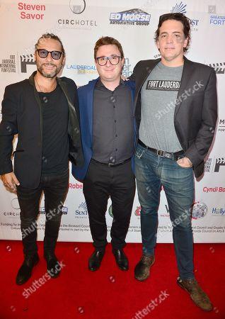 Diego Torres, Martino Zaidelis and Producer Sebastian Aloi