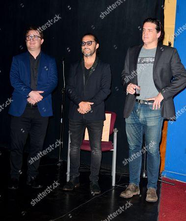 Martino Zaidelis, Diego Torres and Producer Sebastian Aloi