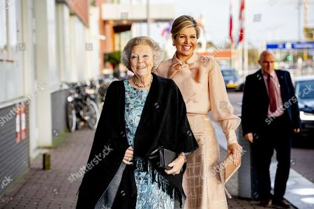 Dutch Queen Maxima (R) and Princess Beatrix arrive for the presentation of the Prince Bernhard Culture Fund Prize in Amsterdam, Netherlands, 04 November 2019. The Prince Bernhard Cultural Prize is awarded to individuals or institutions in the field of music, theater, dance, visual arts, history, literature, heritage, cultural or nature conservation. It was created in London in 1940 by the husband of Queen Juliana, Prince Bernhard.