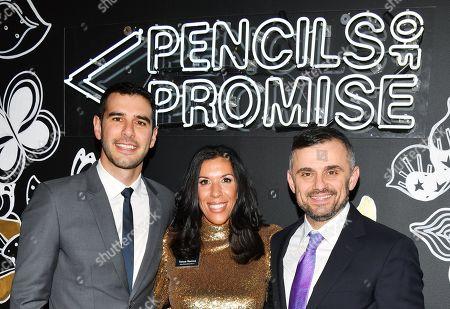 Stock Image of Adam Braun, Tanya Ramos and Gary Vaynerchuck