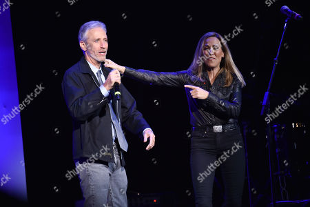 Stock Photo of Jon Stewart and Sheryl Crow