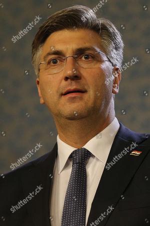 Croatian Prime Minister Andrej Plenkovic attends a joint press conference in Prague, Czech Republic, 04 November 2019.