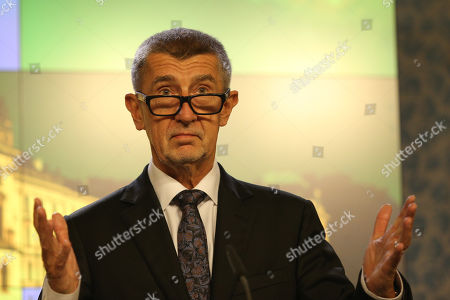 Czech Prime Minister Andrej Babis speaks during a joint press conference in Prague, Czech Republic, 04 November 2019.