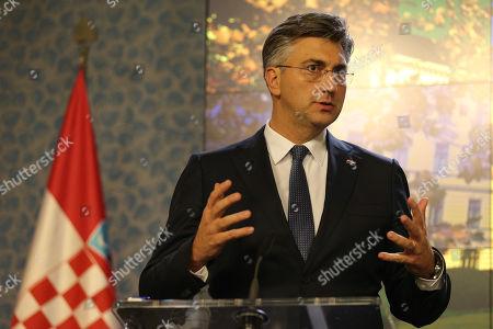 Editorial picture of Croatian Prime Minister Andrej Plenkovic visits Prague, Czech Republic - 04 Nov 2019